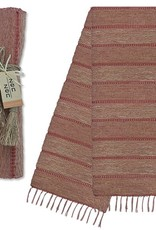 Vetiver Table Linens- Apricot Stripe