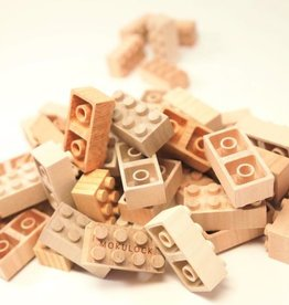 Mokulock Wooden Bricks - Set of 60