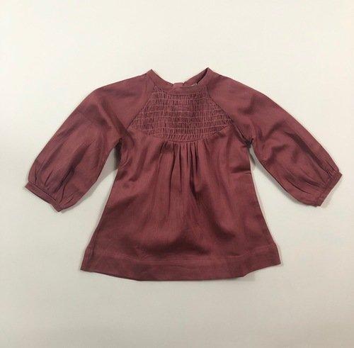 Gathered Sleeve Smocked Shirt