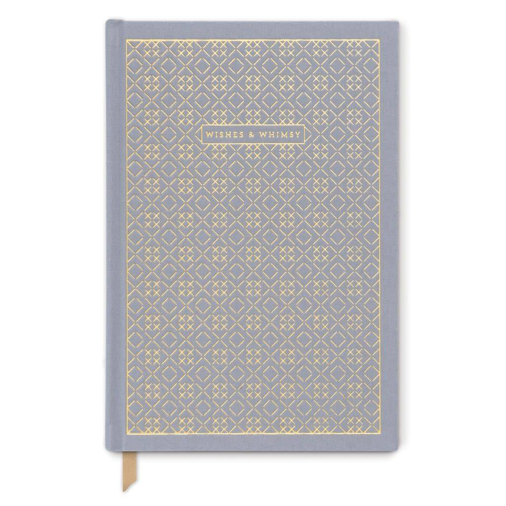 "Designworks Ink ""Wishes & Whimsy"" Cross Stitch Journal, Grey"