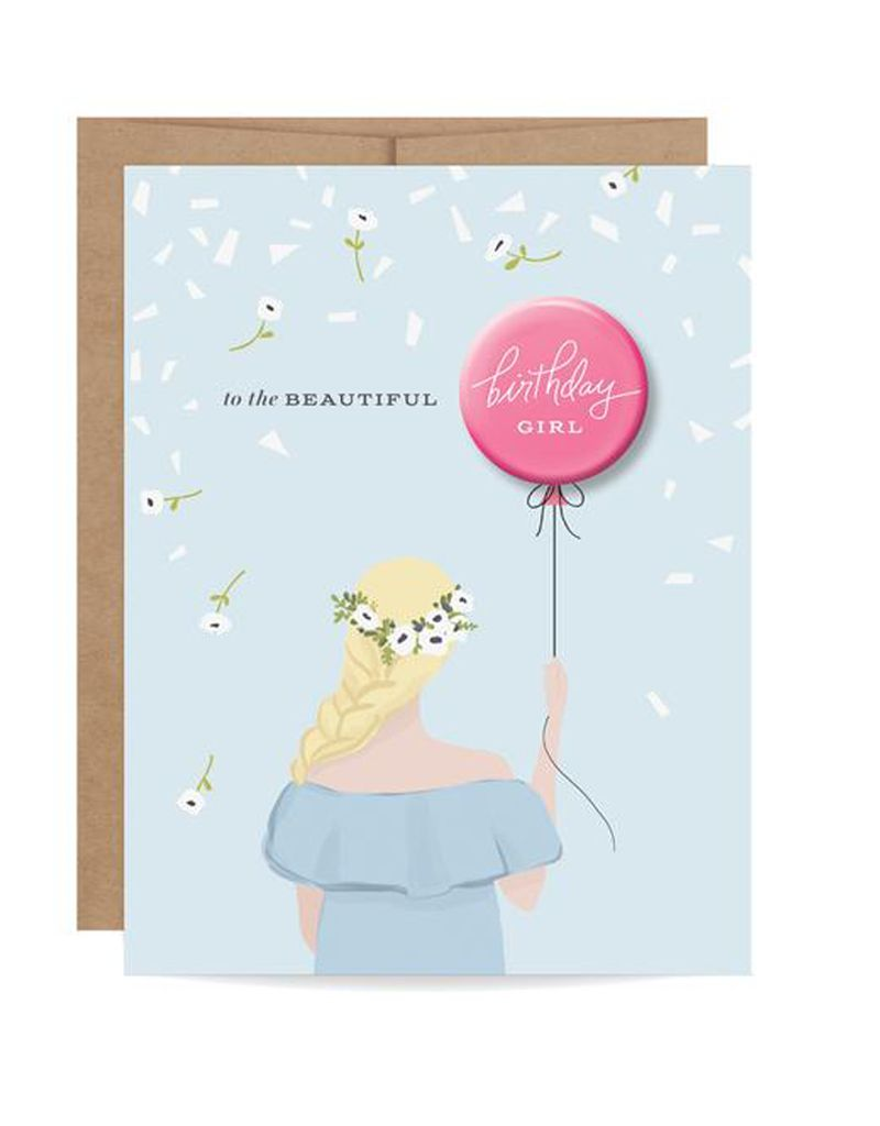 Inklings Paperie Blonde Birthday Girl Button
