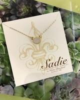 Sadie Handcrafted Jewelry Gold Druzy Necklace