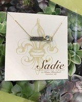 Sadie Handcrafted Jewelry Gold w/silver Bar Necklace