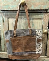 Vintage Canvas/Leather Tote