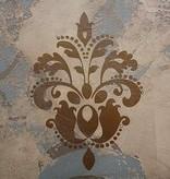 Floral Damask Stencil