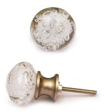 Knobs- Clear Glass Round