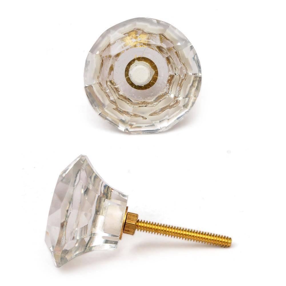 Knobs-XXL Clear Glass Diamond
