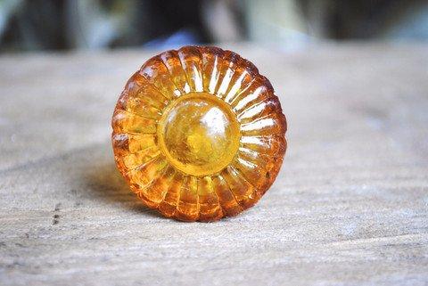 Round Amber Glass Knob