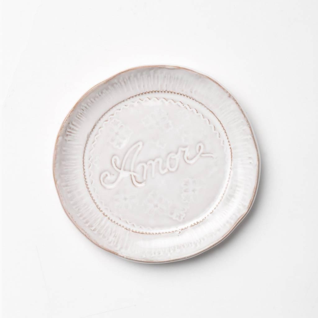 Bellezza White Amore Plate