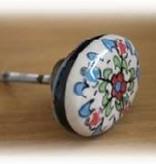 knob one flower ceramic