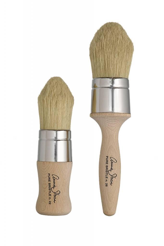 Lg Pointed Dark Wax Brush