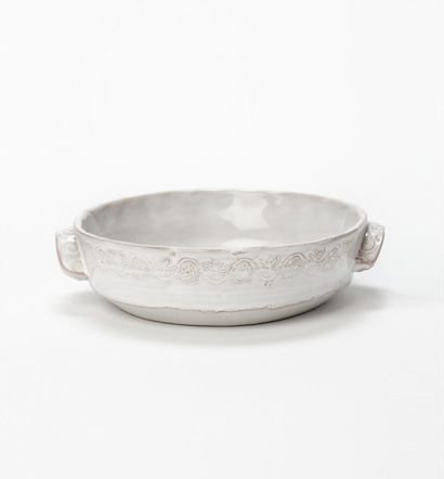 Bellezza Wht Sm Handled Bowl
