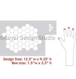 Royal Design Studios Beehive Stencil
