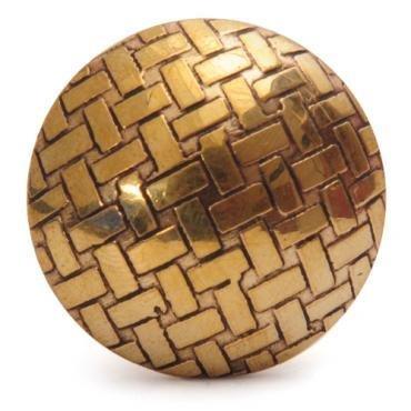 Knobs- Brass Basketweave
