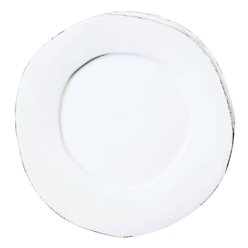 Lastra White Dinner Plate