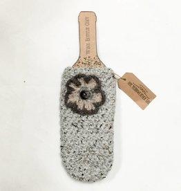 Handmade Crochet Wine Cozy (w/ embellishment)