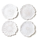 Bellezza Bloom Assorted White Flower Salad Plates
