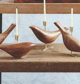 Carved Dove Candle Holder