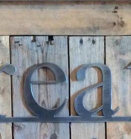 Create: Handmade Metal Word Sign