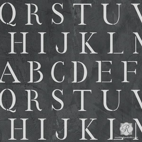 Classic Letter Stencil