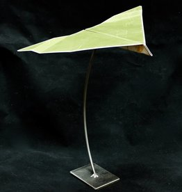 "Metal ""Paper"" Airplane Sculpture Med"
