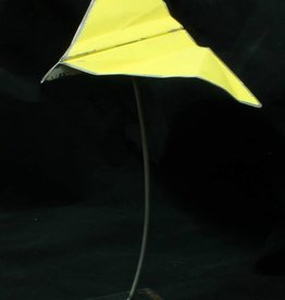 "Metal ""Paper"" Airplane Sculpture Sm"