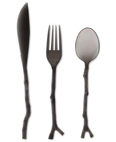 Michael Aram Black Twig 12 pc Cutlery Set