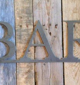BAR: Handmade Metal Word Sign