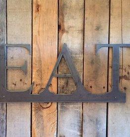 EAT: Handmade Metal Word Sign