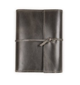 Lg Leather Writer's Log, Refillable, Dot Grid Pages