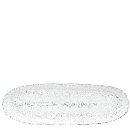 Bellezza Wht Narrow Ovl Platter