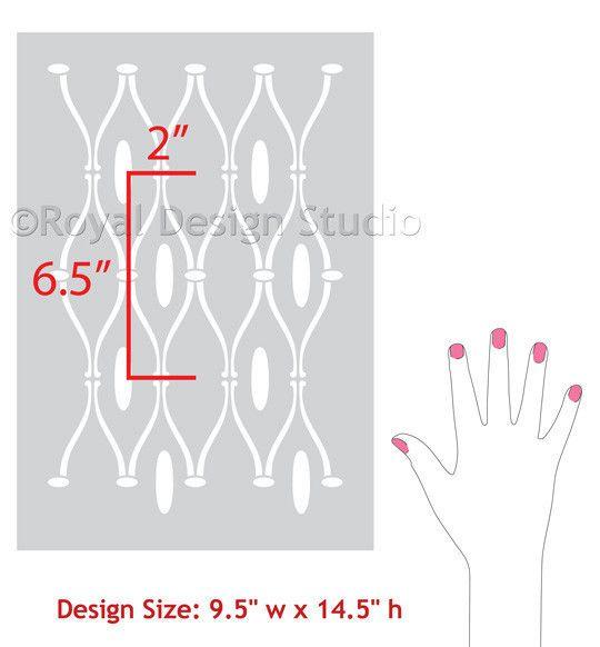 Royal Design Studios Elsabet Trellis Sm stencil