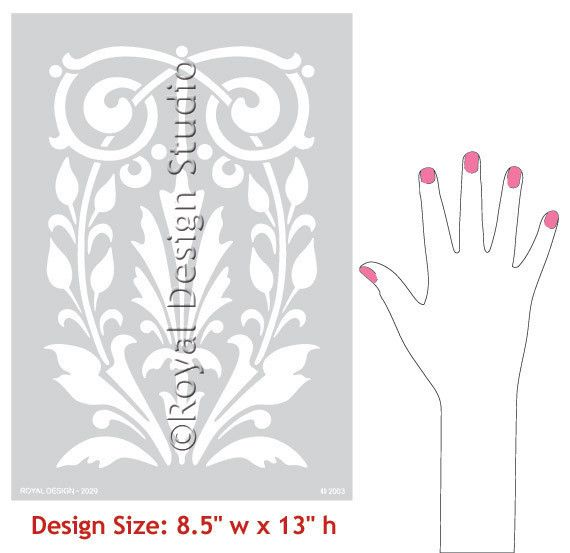 Royal Design Studios Fleur Panel stencil