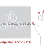 Royal Design Studios French Flourish Stencil