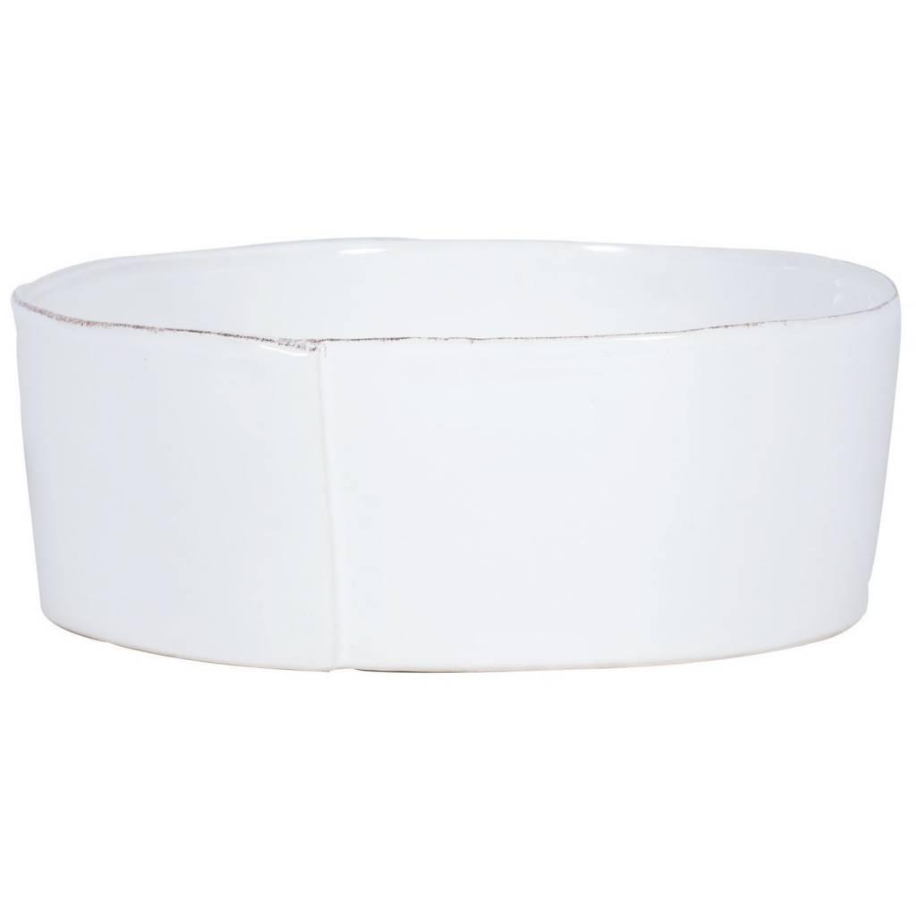 Lastra White Lg Serv Bowl