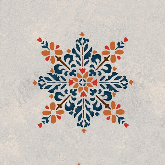 Royal Design Studios Moroccan Embroidered Star Stencil