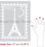 Paris Postage Stamp Stencil