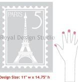 Royal Design Studios Paris Postage Stamp Stencil