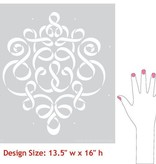 Royal Design Studios Sm Ribbon Damask Stencil