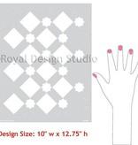 Sm Star Diamonds Stencil