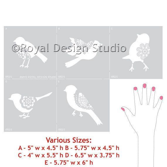 Royal Design Studios Sm Sweet Tweets A Stencil