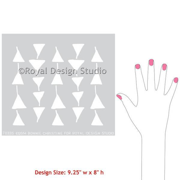 Royal Design Studios Triangulations Small Stencil