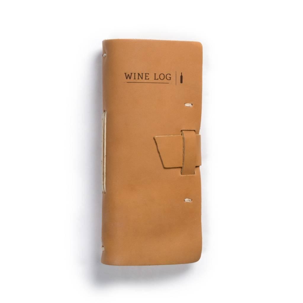 Leather Wine Log
