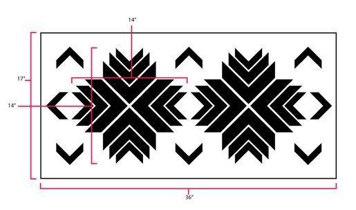 Aztec Star Stencil