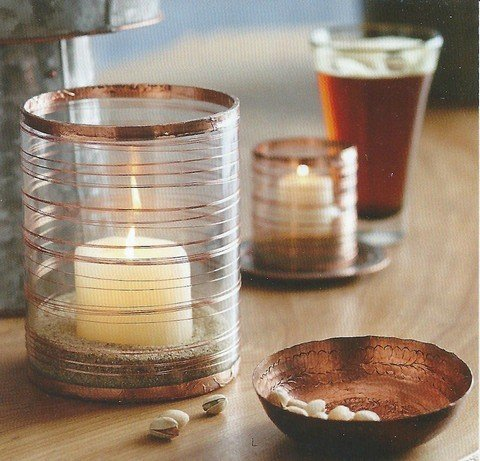 Copper Slinki Votive Holder
