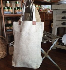Almond Washed Linen Deep Tote