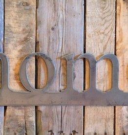 home: Handmade Metal Word Sign