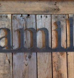 family: Handmade Metal Word Sign