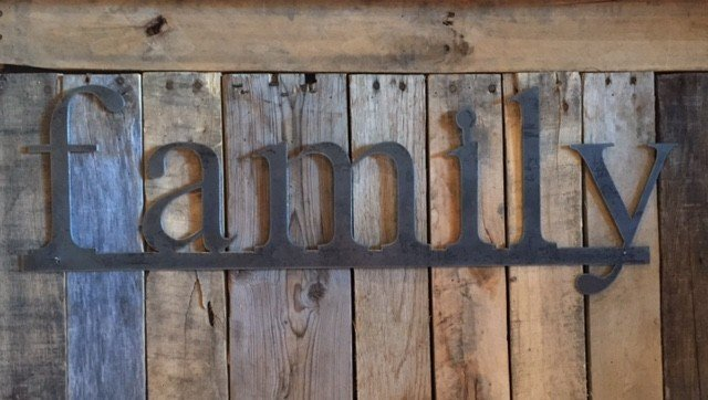 family: Handmade Metal Word Sign