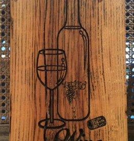 Wine Reclaimed Barnwood Sign
